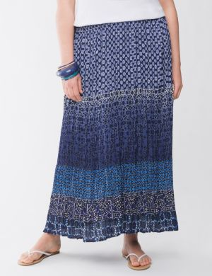 Lane Collection multi print skirt