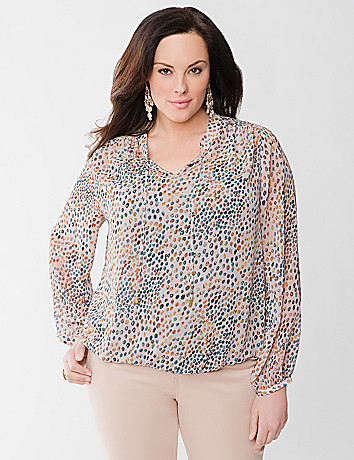 Embellished peasant Top by Lane Bryant