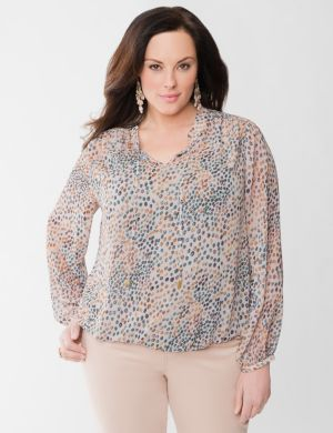 Lane Collection embellished peasant blouse