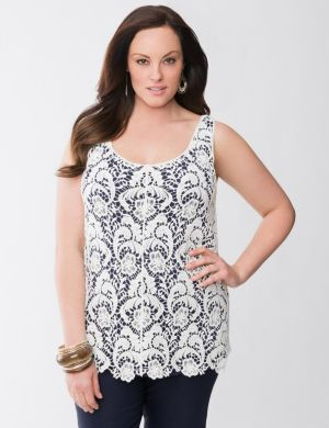 Lane Collection lace tank