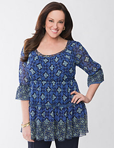 Lane Collection peasant tunic by Lane Bryant