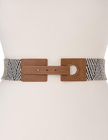 Plus Size Woven Stretch Belt by Lane Bryant