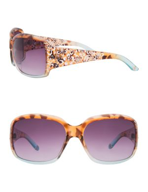 Two tone floral sunglasses
