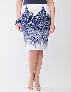 Lane Collection printed pencil skirt by Lane Bryant