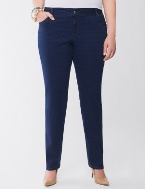 Lane Collection geo print skinny jean