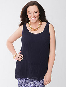 Lane Collection high-low tank by Lane Bryant