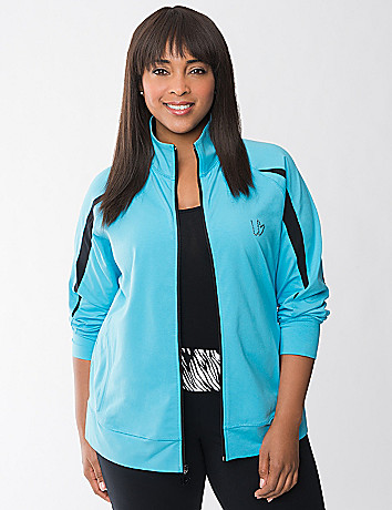 Full Figure Spliced Sleeve Active Jacket