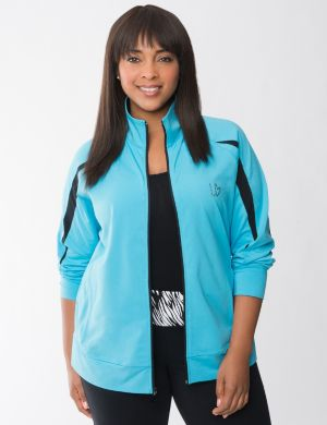 Spliced sleeve active jacket