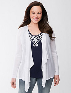 Lane Collection eyelet cardigan by Lane Bryant