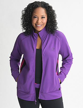 Plus Size Colorblock Active Jacket