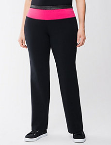 Full Figure Sparkle Waist Yoga Pant