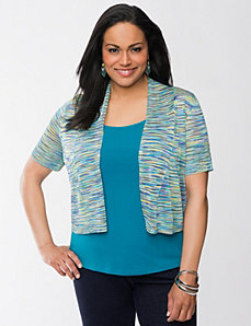 Space dye shrug by LANE BRYANT