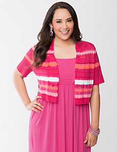 Tie dye striped shrug by LANE BRYANT