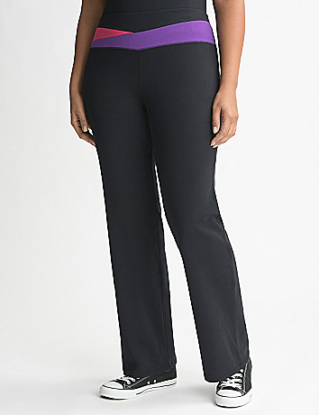 Plus Size Colorblock Waist Yoga Pant