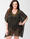 Shimmer dot swim cover-up