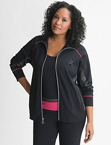 Full Figure Sparkle Spliced Active Jacket