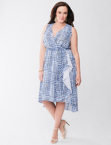 Lane Collection surplice dress by Lane Bryant