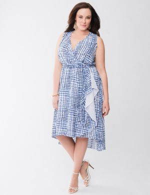 Lane Collection surplice dress