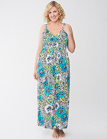 Tropical floral sleep maxi by Cacique