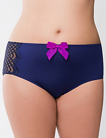 Geo embroidered midi brief