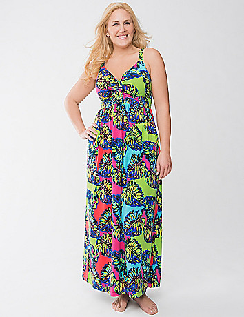 Leaf print sleep maxi by Cacique