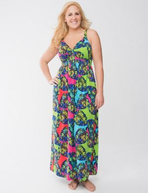 Leaf print sleep maxi lounger