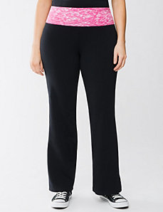 Colored waist yoga pant by Lane Bryant