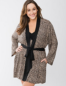 Tru to You Animal print robe by Cacique
