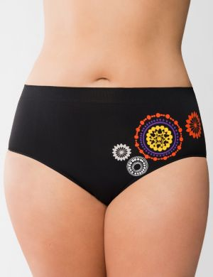Medallion seamless high leg panty