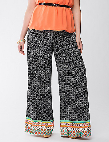 Lane Collection print palazzo pant