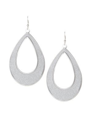 Glitter teardrop earrings by Lane Bryant