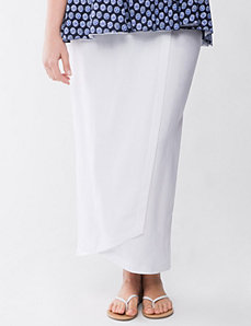 Lane Collection linen skirt by Lane Bryant