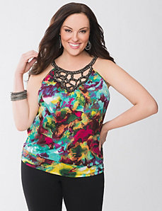 Embellished banded bottom tank