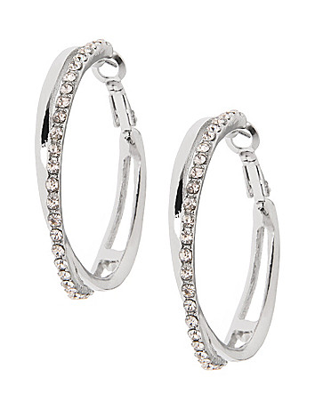Crossed hoop earrings by Lane Bryant