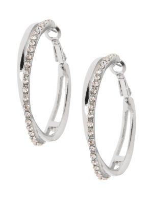 Crossed hoop earrings by Lane Bryant