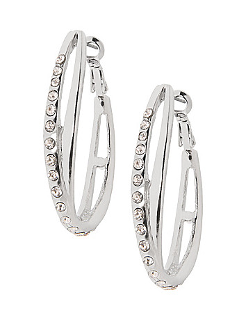 Crossed teardrop earrings by Lane Bryant