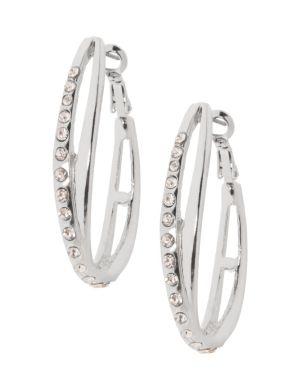 Crossed teardrop earrings by Lane Bryant