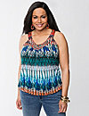 Embellished tribal print tank