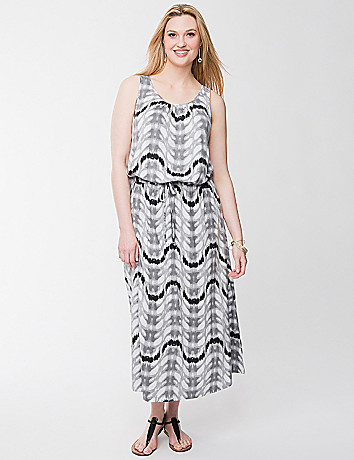 Printed maxi dress by Seven7