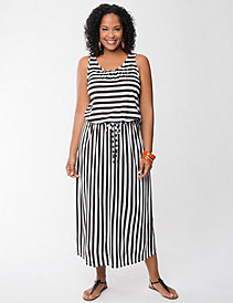 Mixed stripe maxi dress by Seven7
