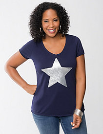 Star sequin tee by Seven7