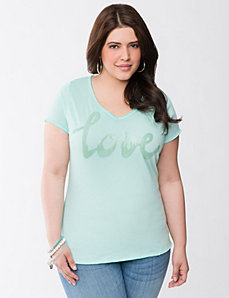 Love sequin tee by Seven7