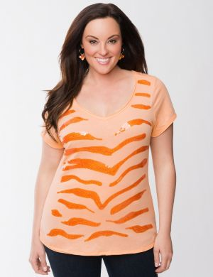 Sequin zebra tee by Seven7