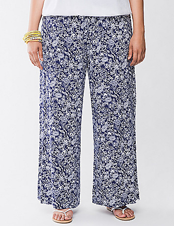 Soft floral palazzo pant