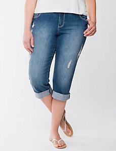 Genius Fit distressed capri