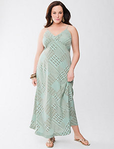 Lane Collection patchwork slip dress by Lane Bryant