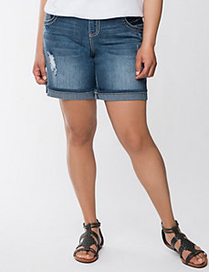 Distressed Bermuda short