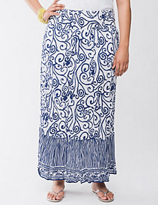 Scroll embellished maxi skirt by LANE BRYANT