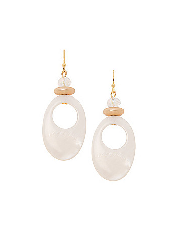 Lane Collection shell teardrop earrings