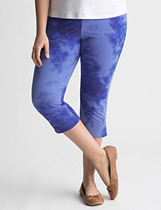 Plus Size Printed Jegging Capri by Lane Bryant